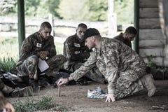 Elita wyzwanie - szkolenie wojskowe, rywalizacja cywile zdjęcie royalty free