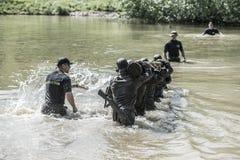 Elita wyzwanie - szkolenie wojskowe, rywalizacja cywile zdjęcia royalty free