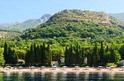 Elite Beach of Queen (Kraljicina plaza), Milocer, Montenegro Stock Image