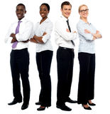 The elite business team Stock Image