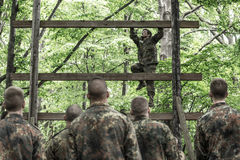 Elite Challenge - military training, competitions civilians Stock Photography