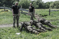 Elite Challenge - military training, competitions civilians. Hungary, Orfu - May 3-8: Elite Challenge is a program designed both for civilians and professionals Stock Photos