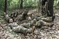 Elite Challenge - military training, competitions civilians Royalty Free Stock Image