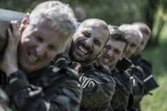 Elite Challenge - military training, competitions civilians Stock Photos