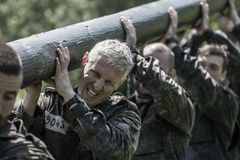 Elite Challenge - military training, competitions civilians Royalty Free Stock Images