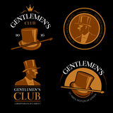 Elite mens club vintage vector labels Stock Photo