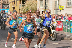 Elite Mens Marathon runners stock image