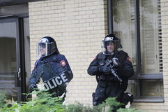 Elite riot police officers. Stock Photography