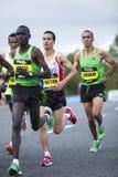 Elite Runners Great North Run. Geoffrey Mutai, Jaouad Gharib competing in the Great North Run, Newcastle upon Tyne Stock Image