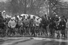 Elite runners start Boston Marathon 2018 royalty free stock image