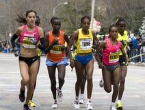The Elite Women race as a bunch Royalty Free Stock Photos