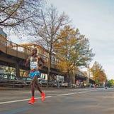 Eliud Kiptanui que funciona con a Berlin Marathon 2014 Foto de archivo libre de regalías