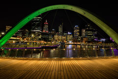 Elixabeth Quay in Perth WA Stock Image