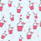 Elixir av förälskelse hjärtor mönsan seamless trycket websiten, designen, textiler, keramik, tyger skrivar ut vykortet som förpac vektor illustrationer