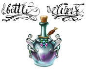 Elixir.  of fantasy games for a bottle Royalty Free Stock Photography