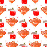 Elixir of love and balloons. seamless pattern Royalty Free Stock Photo