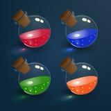 Elixires mágicos ajustados Foto de Stock Royalty Free