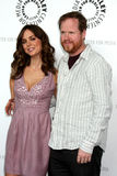 Eliza Dushku,Joss Whedon Royalty Free Stock Photography