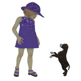 Eliza en Staffordshire Puppy Royalty-vrije Stock Afbeeldingen