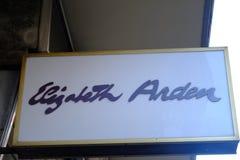 Elizabeth Arden signage fotografia royalty free