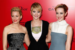 Elizabeth Banks, Jennifer Lawrence, Jena Malone Royalty Free Stock Image