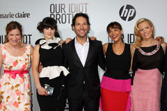 Elizabeth Banks, Kathryn Hahn, Paul Rudd, Rashida Jones, Zooey Deschanel Stock Images