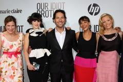 Elizabeth Banks, Kathryn Hahn, Paul Rudd, Rashida Jones, Zooey Deschanel Stock Images