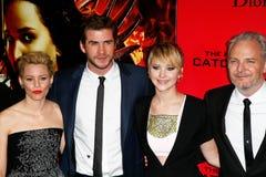 Elizabeth Banks, Liam Hemsworth, Jennifer Lawrence, Francis Lawrence Royalty Free Stock Photos