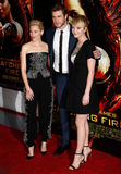 Elizabeth Banks, Liam Hemsworth, Jennifer Lawrence Stock Photo