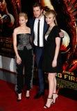 Elizabeth Banks, Liam Hemsworth, Jennifer Lawrence Stock Photo