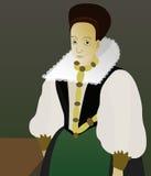 Elizabeth Bathory. Bloody Lady in Slovak history stock illustration