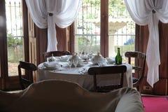 Elizabeth Bay House - äta middag tabellen Arkivfoto