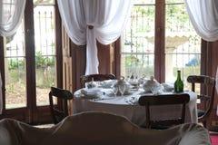 Elizabeth Bay House - äta middag tabellen Royaltyfria Bilder