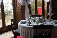 Elizabeth Bay House - äta middag tabellen Royaltyfria Foton