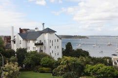 Elizabeth Bay - sikt från Elizabeth Bay House arkivfoto