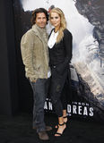 Elizabeth Berkley en Greg Lauren Royalty-vrije Stock Fotografie