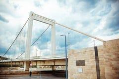Elizabeth-Brücke Budapest stockfoto