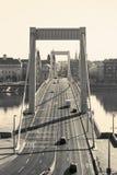 Elizabeth-Brücke, Budapest stockbilder