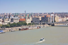 Elizabeth bridżowy miasta widok Budapest fotografia royalty free