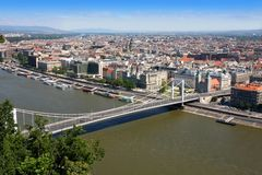Elizabeth bridge, Budapest, Hungary Royalty Free Stock Photos
