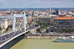 Elizabeth bridge city view Budapest Hungary Stock Photos