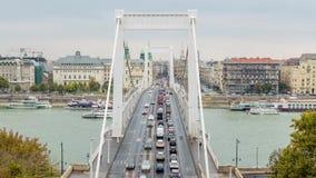 Elizabeth Bridge Lapso de tiempo de Budapest almacen de video