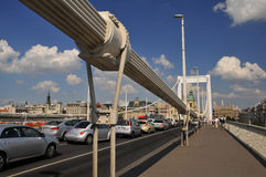 Elizabeth bridge - traffic Stock Image