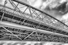 Elizabeth bro mellan Ungern och Slovakien Royaltyfria Foton