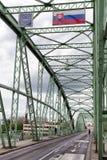 Elizabeth bro mellan Ungern och Slovakien Royaltyfri Bild