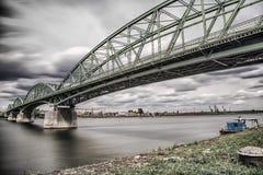 Elizabeth bro mellan Ungern och Slovakien Royaltyfria Bilder