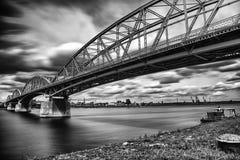 Elizabeth bro mellan Ungern och Slovakien Arkivbilder