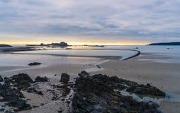 Elizabeth Castle al tramonto, Jersey fotografia stock