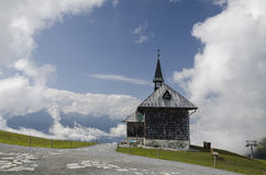 Elizabeth chapel on the peak above Zell am See, Austria Royalty Free Stock Image