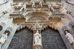 Elizabeth dome's north portal. North portal (entry) to Elizabeth cathedral in Košice (Cassovia). The north portal is the most beautifully decorated (late gothic Royalty Free Stock Photography